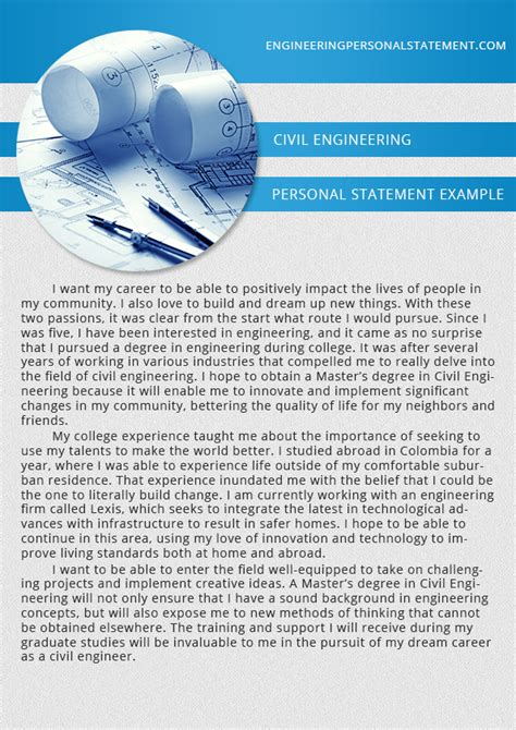 engineering personal statement exles engineering personal statement
