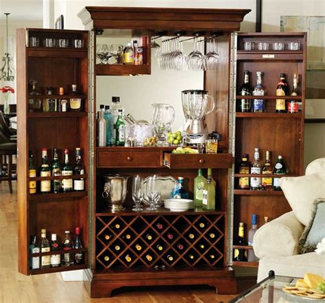 Tall Kitchen Cabinet by Howard Miller Sonoma In Americana Cherry Home Bar Armoire
