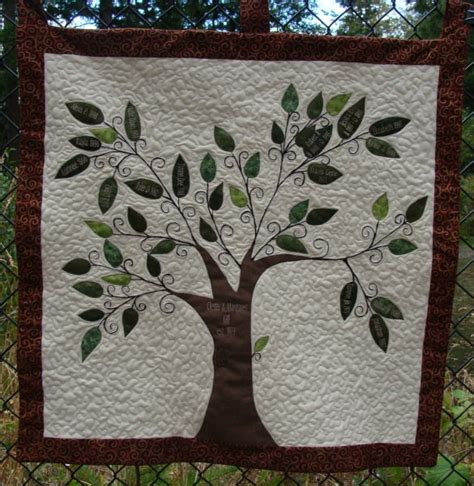Quilted Tree Wall Hanging by Family Tree Quilt Wall Hanging By Sqquilter On Etsy