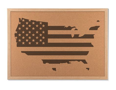 Decorating Cork Boards by Rustic Usa Cork Board Map Americana Decor And United States Travel Map