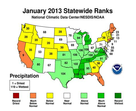 average temperature map usa january summary information state of the climate national