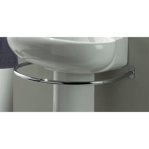 brilliant idea for a pedestal sink a towel rack that