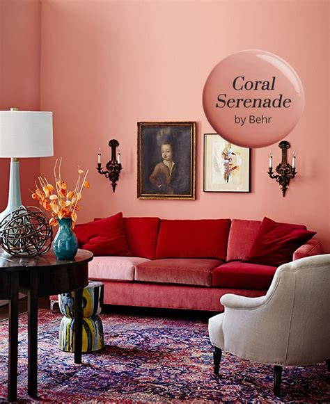 best coral paint color for bedroom coral serenade by behr is our paint color pick