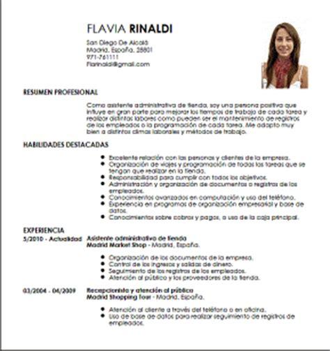 Modelo De Curriculum Vitae De Un Asistente Contable Peru Modelo Cv Asistente Administrativa De Tienda Livecareer
