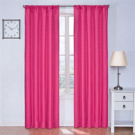 raspberry curtains eclipse kendall blackout raspberry curtain panel 84 in