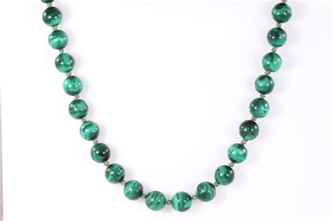 malachite bead necklace malachite bead necklace state auctions