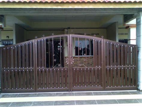 Pintu Pagar Lipat Minimalis 26 macam desain pintu gerbang rumah terbaru saat ini