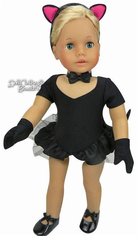 black doll cat black cat costume for american doll clothes 5