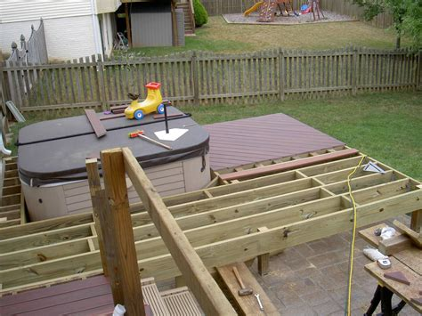 in deck tub backyard design ideas