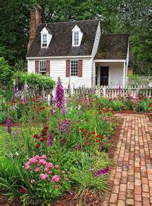 White Cottage Garden Flowers Cottage And Flowers Tiny Homes Cottages