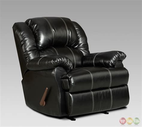 Bonded Leather Recliners by Taos Black Bonded Leather Rocker Recliner Casual Reclining