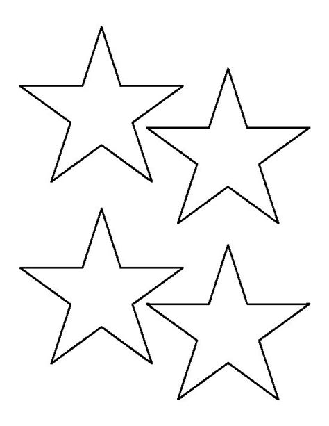 star pattern in c pdf 4 inch star pattern use the printable outline for crafts