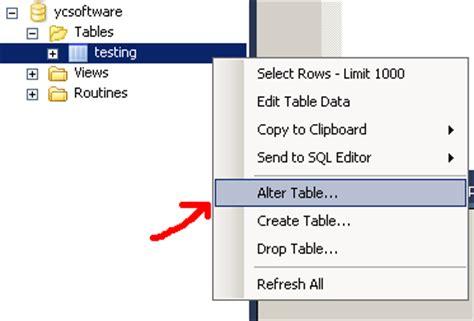 Rename Table Mysql by Rename A Table In Mysql Ycsoftware Net