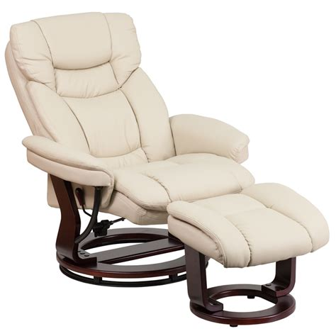 contemporary leather recliners with ottoman contemporary beige leather recliner and ottoman with
