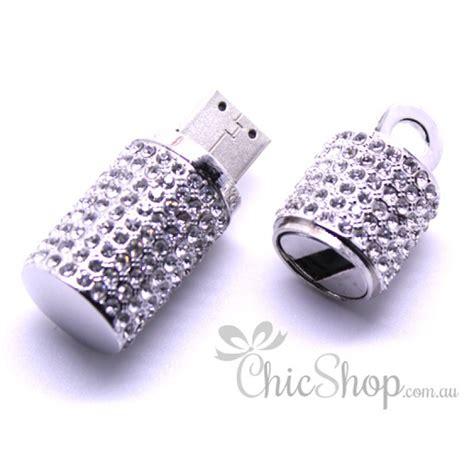 Usb Jewelry 8gb Silver silver colour jewelry bling designer usb flash drive 8gb