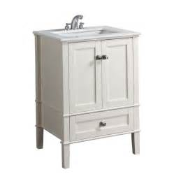 shop simpli home chelsea 25 in x 21 5 in white undermount