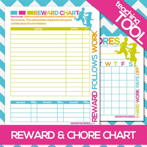 printable rewards charts free printable kids chore rewards chart free printable