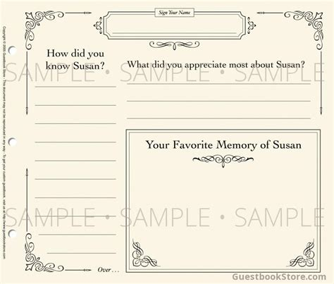 9 Best Images Of Template Funeral Guest Book Funeral Guest Book Template Memorial Service Funeral Memory Book Templates