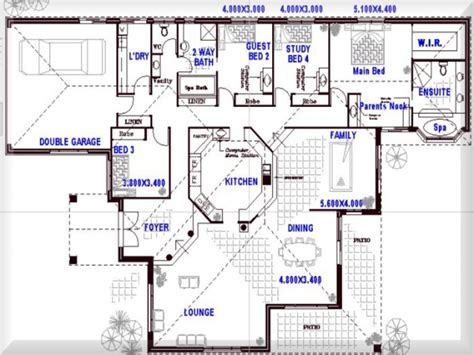 open house plans 8 bedroom floor plans 4 bedroom open floor plans open