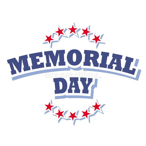 day logo free memorial day logo stock vector illustration of patriotism
