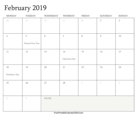 Free Printable Calendar 2019 With Holidays In Word Excel Pdf 2019 Calendar Template Word