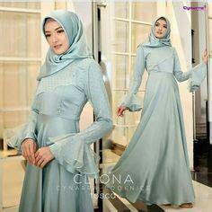 Najibah Gamis Syari from inspirasi kebaya eid wedding hijabi fashion