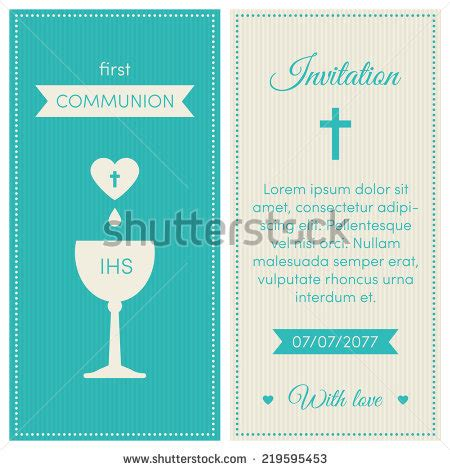 communion invitation template communion invitation template blue and