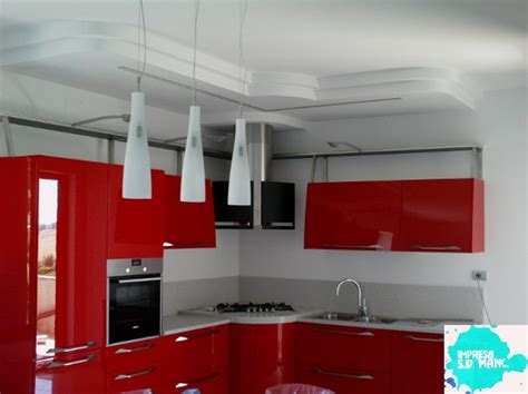 ladario cucina controsoffitto autoportante in cartongesso applique gesso