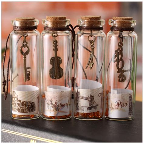 vintage sand drift bottle mini clear cork stopper diy glass bottles craft wishing small