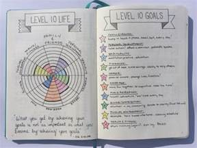 Goal Journal Template by Level 10 100 Goals In 10 Areas Of Focus Boho Berry