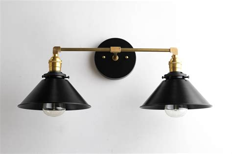 black brass vanity light bathroom wall l modern fixture