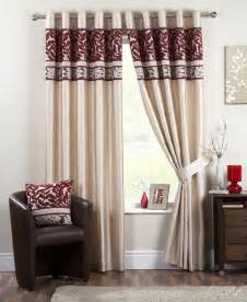 Red And Cream Eyelet Curtains Modern Curtains 2017 اجمل الوان الستائر احلى ستائر