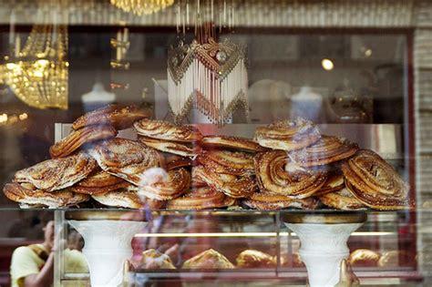 snapshots  sweden giant cinnamon buns  cafe
