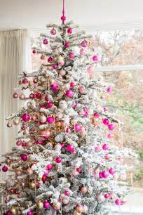 top 40 pink christmas trees christmas celebrations