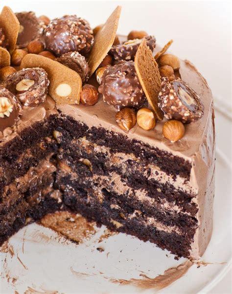 chocolate cake ferrero rocher ferrero rocher cake tatyanas everyday food