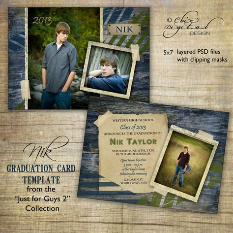 free photo card templates graduation graduation announcement card template for photographers