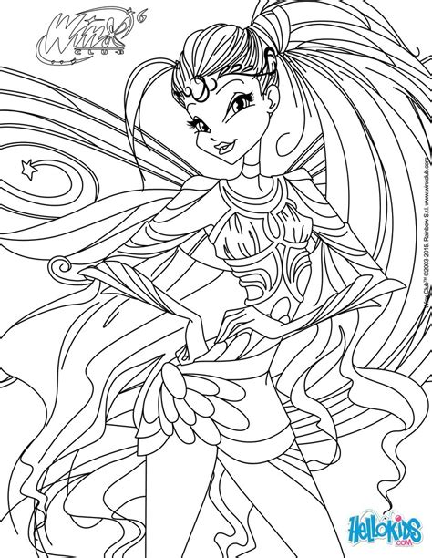 coloring pages for winx club stella transformation bloomix coloring pages hellokids