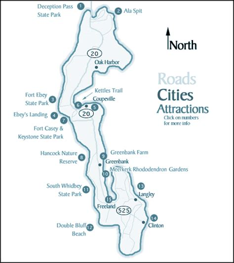 map of whidbey island whidbey island washington attractions