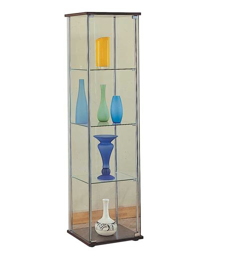 glass curio cabinet with lights glass display cases office furniture