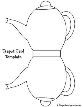 Printable Teapot Card Template by S Day Teapot Cup Craftivity By Crayon Box