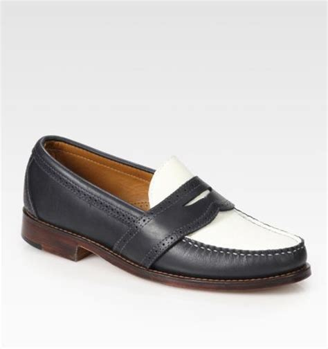 ralph mens loafers ralph ellesmere loafers in white for