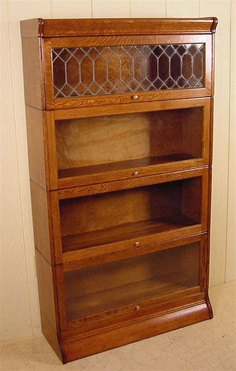 4 section oak quot hale quot stacking bookcase