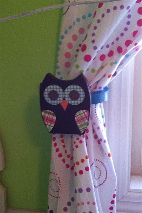 girls owl curtains owl curtain holders ashlyn s new room pinterest