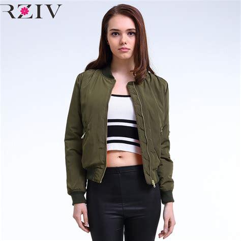 Flight Bomber Jacket Green Army Cewek 2016 winter flight army green bomber jacket jacket