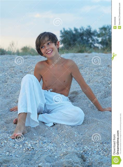 azov naturists happy boy on the beach stock photo image of white