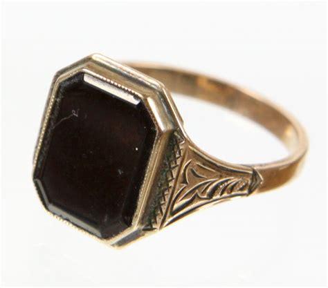 antique onyx ring catawiki