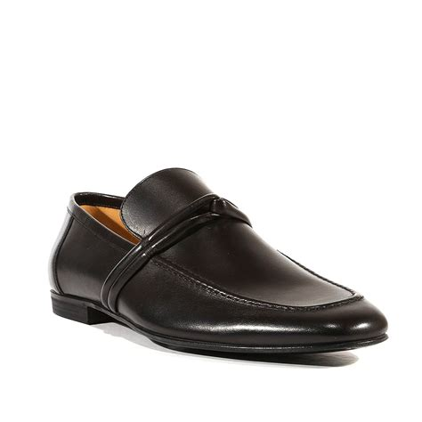 gucci shoes smooth black leather classic loafers