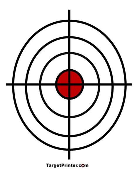 printable crosshair targets printable crosshair bullseye shooting target