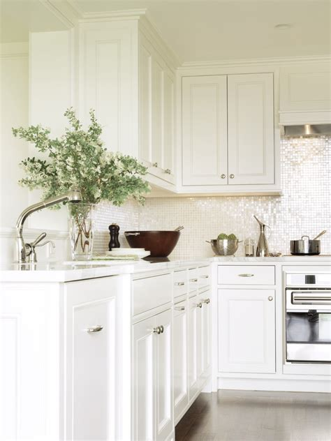 White Kitchen Glass Backsplash by White Glass Tile Backsplash Kitchen Contemporary With