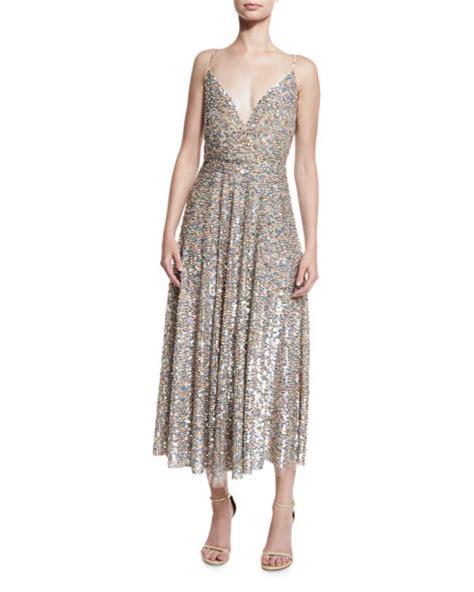 Dress Praline valentino sequined wrap bodice slip dress praline